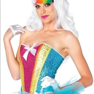 Leg Avenue | Costume Rainbow Sequin Corset | S